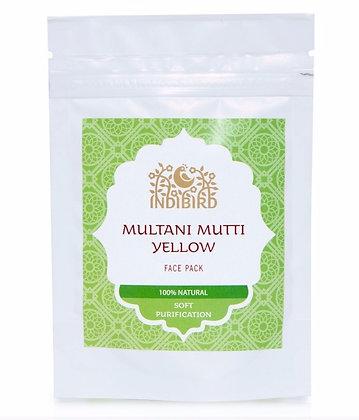 Маска для лица Мултани Мутти, Желтая глина для сухой кожи, Indibird, 50гр.