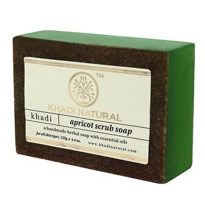Мыло - скраб с маслом Абрикоса, Khadi Apricot scrub soap, 125гр.