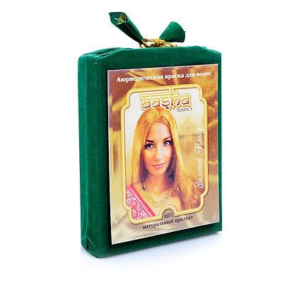 Аюрведическая краска для волос Золотой блонд