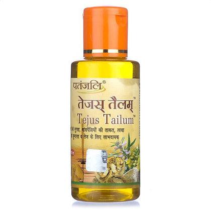 Массажное масло Теджас Тайлум для волос, кожи лица и тела Патанджали, 100мл.