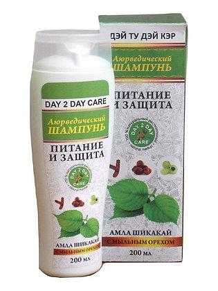 Шампунь для волос Амла Шикакай с мыльным орехом, Day 2 Day Care, 200мл.