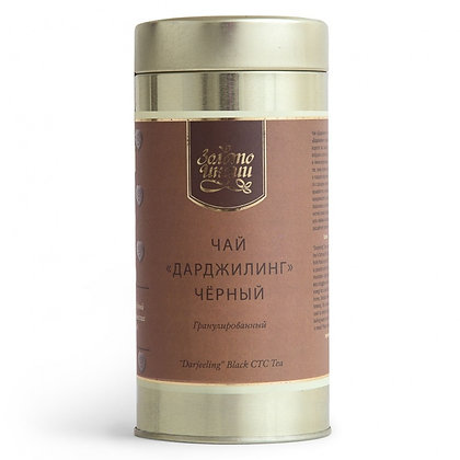 Чай «Золото Индии» Дарджилинг чёрный гранулированный, 100гр