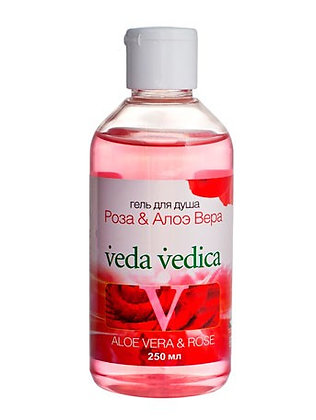 Гель для душа Роза - Алоэ Вера, Veda Vedica, 250мл.