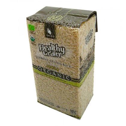 Рис Жасмин коричневый тайский органический,  Brown Jasmine rice Sawat-D, 1кг.