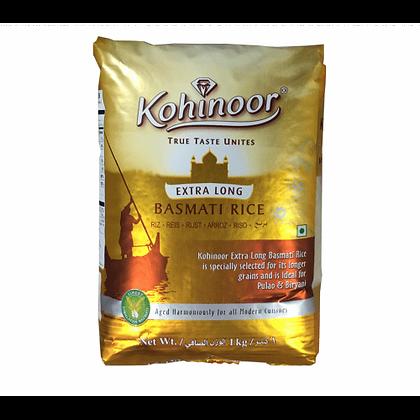 Рис Басмати экстра длинный Золотой пропаренный, Kohinoor Extra Long, 1кг.