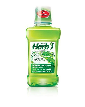 Ополаскиватель полости рта Dabur Herb'l Neem, Ним - антибактериальный, 250мл.