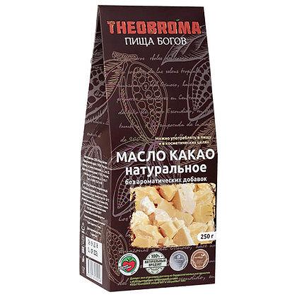 Масло какао натуральное холодного отжима Пища богов Teobrom, 250гр.