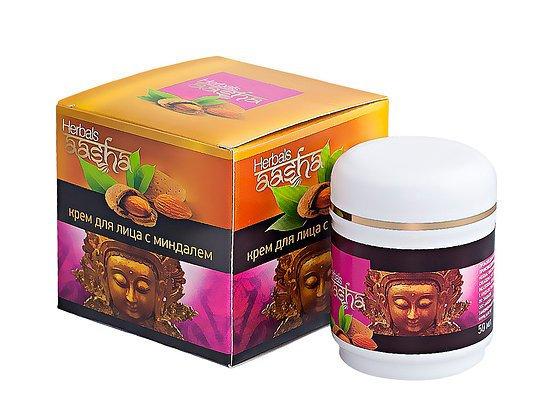 Крем для лица с Миндалем, Aasha Herbals