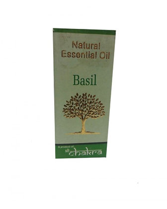 Эфирное натуральное масло Базилик, Natural Essential Oil  Basil, 10мл.