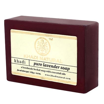 Мыло ручной работы с маслом Лаванды Khadi Natural, 125гр.