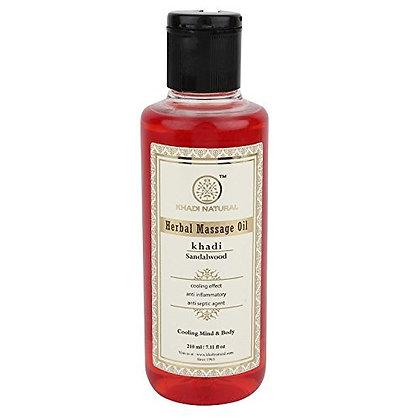 Массажное масло Сандал для лица, тела и волос, Khadi, 210мл.