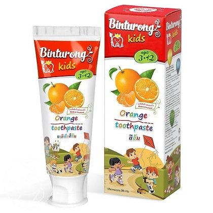 Детская зубная паста с ароматом апельсина, Binturong Kids Orange, 50гр.