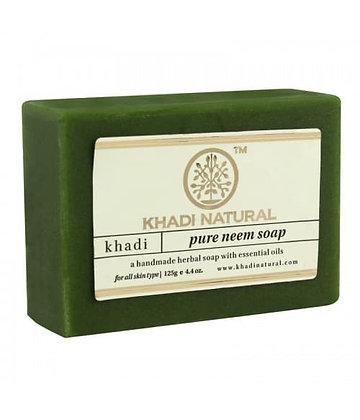 Мыло Кхади с эфирным маслом Ним, Khadi Natural, 125гр.