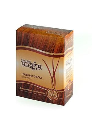 Травяная краска для волос Золотисто-коричневая