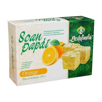 Индийская сладость Соан Папди со вкусом Апельсина, Soan Papdi, 250гр