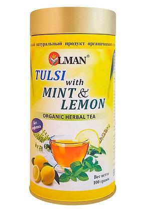 Чай травяной органический Тулси Мята и Лимон, Olman, 100гр.