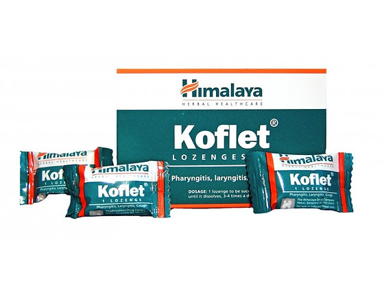 Кофлет Леденцы от кашля и боли в горле, Himalaya Herbals Koflet, 10шт.