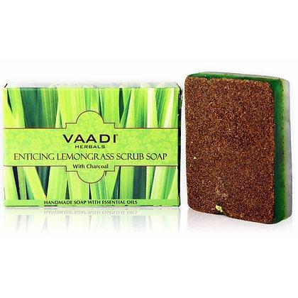 Мыло-скраб с Лимонной травой Ваади,Vaadi Enticing Lemongrass Scrub Soap, 75гр.