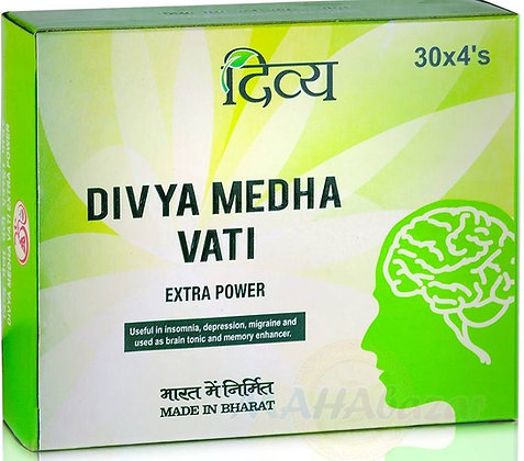 Медха Вати для мозга и памяти, Medha Vati Divya Patanjali,30таб