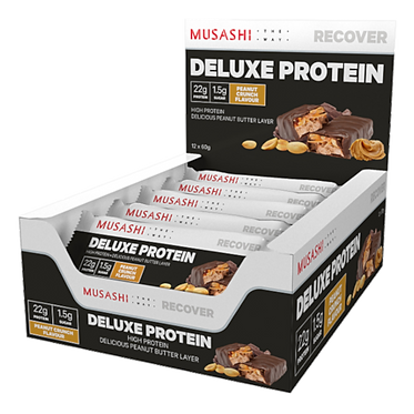 Musashi DELUXE PROTEIN Bar 60G (Box of 12 Bars)