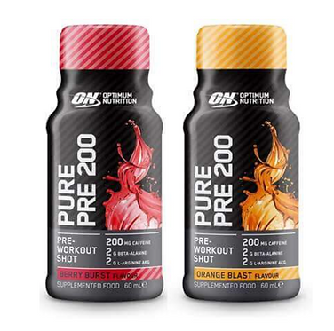 PURE PRE 200 BY OPTIMUM NUTRITION 12 pack of shots