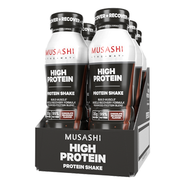 Musashi HIGH PROTEIN Shake 375ml (Box of 6 Drinks)