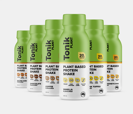 Tonic Plant Protein Shake - Pack of 12 - BUY 1 GET A BOX OF SUPER CUBE BARS FREE