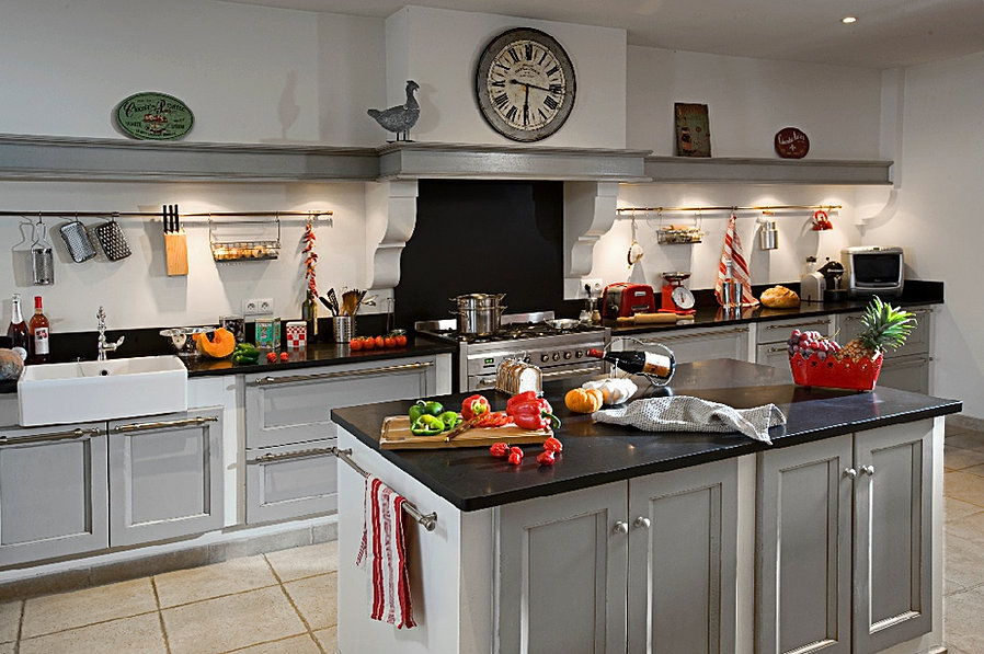 Cuisine cottage style anglais intemporel - Cuisines amenagees modeles ...