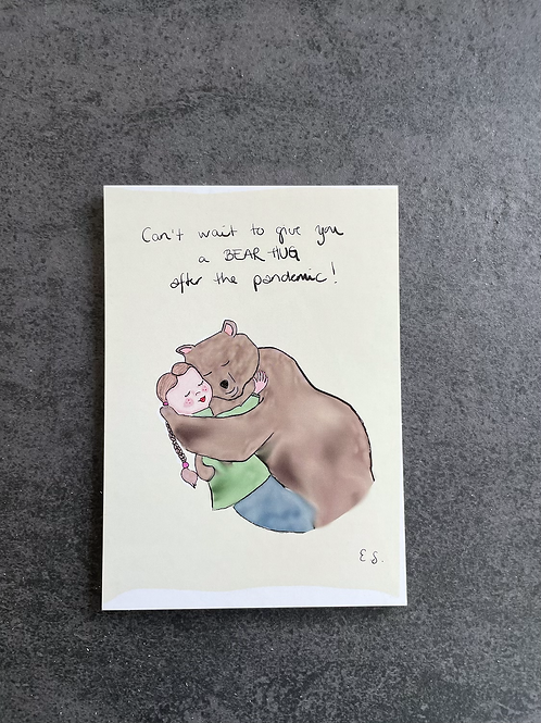 "Postkort - ""Bear Hug"""
