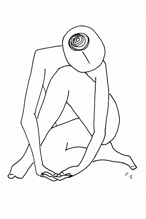 Fine Art Print - Nude With a Hair Bun (Tribute to Edward Weston)