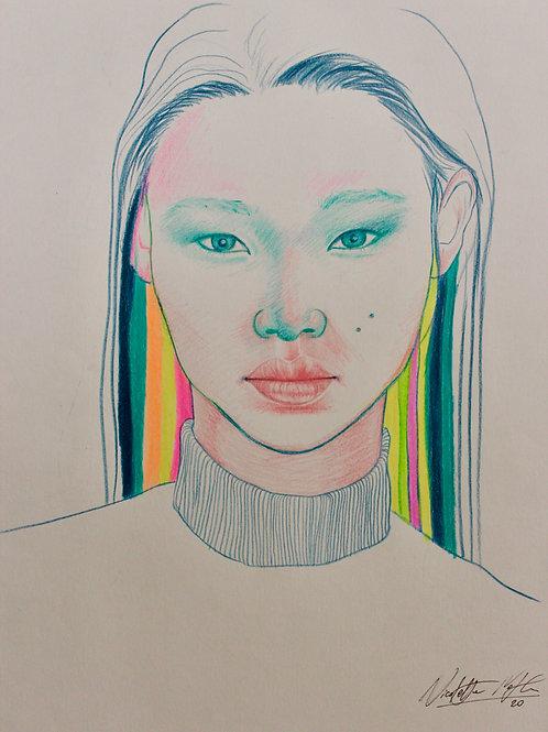 "Trykk - Fine Art Print - ""Hidden personality"""