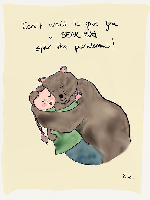 "Trykk - Fine Art Print - ""I'll give you a bear hug"""