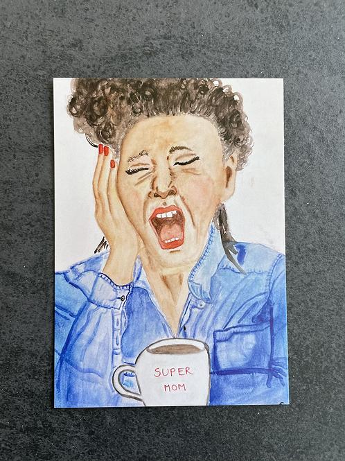 "Postkort - ""Super Mom"""