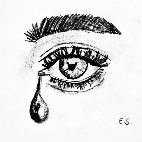 "Trykk - Fine Art Print - ""Lacrima (Tear)"""