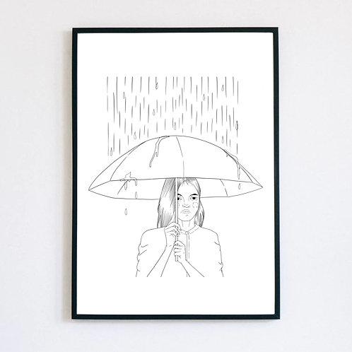 "Trykk - Print ""Anxiety"""