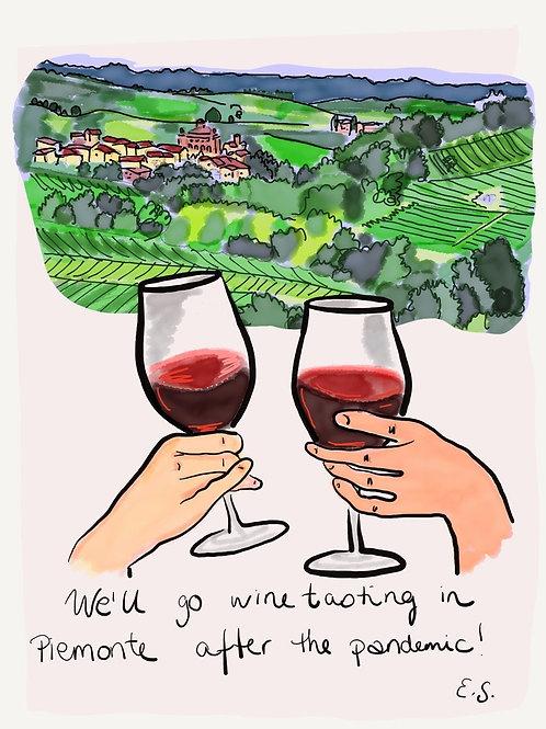 "Trykk - Fine Art Print - ""We'll go wine tasting"""