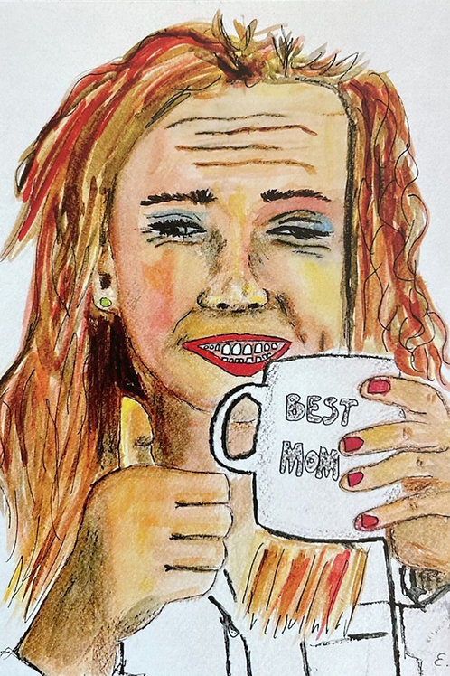 "Trykk - Fine Art Print - ""Best Mom"""