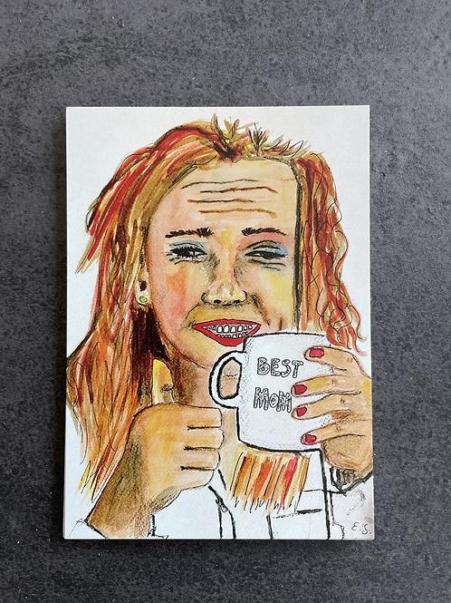 "Postkort - ""Best Mom"""