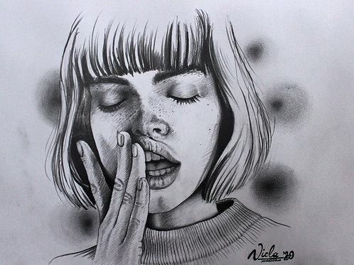 """Trykk - Fine Art Print - """"En hemmelighet"""""""