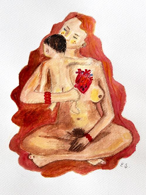 """Trykk - Fine Art Print - """"A Mother's Heart"""""""