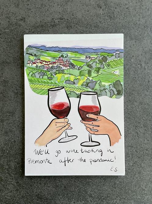 """Postkort - """"Piemonte"""""""