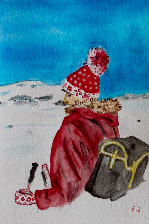 Fine Art Print - Skier (Mom Before Me)