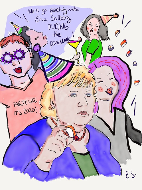 """Fine Art Print - """"Party with Erna Solberg"""""""