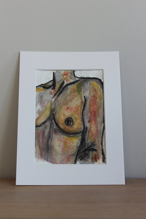 """Water Color Painting - """"Just a Breast"""""""