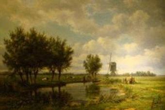 Landscape with peasants - van Borselen