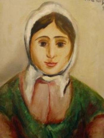 Portrait of a boy and portrait of a girl - Mané Katz