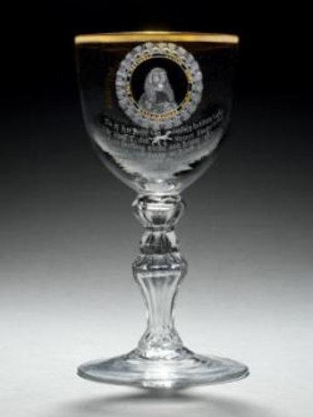 Glass honouring Hendrik Hooft, Mair of Amsterdam