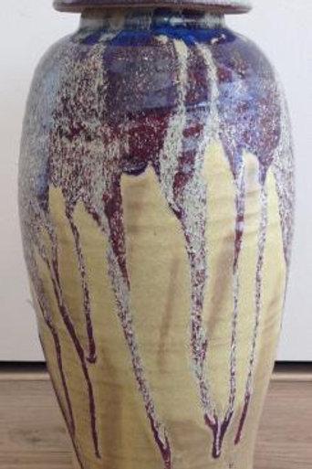 Pot met pagode deksel - Han Boerrigter