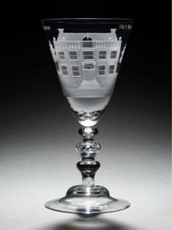 Goblet with 'De Hoornderegt'