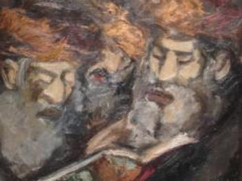 Three Reading Rabbis - Mané Katz